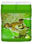 Frog  Abby Aldrich Rockefeller Garden Duvet Cover