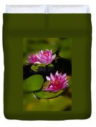 Frog And Water Lily Duvet Cover