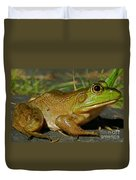 Frog At Night Duvet Cover