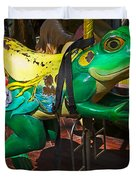 Frog Carrousel Ride Duvet Cover