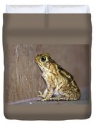 Frog-facing The Wall Duvet Cover by Miguel Hernandez