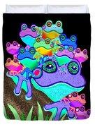 Frog Family Too Duvet Cover