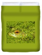 Frog In Single Celled Algae Duvet Cover