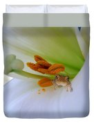 Frog In The Lily Duvet Cover