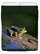 Frog On A Log Duvet Cover