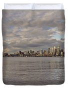 from Alki Beach Seattle skyline Duvet Cover