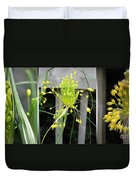 From Bud To Bloom - Fireworks Allium Duvet Cover