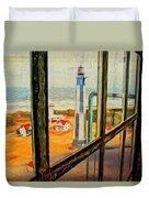 From Cape Henry Lighthouse Duvet Cover