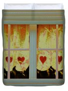From French Riviera Window With Love Duvet Cover
