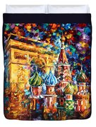 From Moscow To Paris Duvet Cover