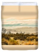 From Top Of The Mountain At Joshua Tree National Park Duvet Cover