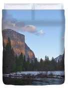 From Valley View At Sunset Duvet Cover