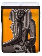 Front And Side Egyptian Pharoah Duvet Cover