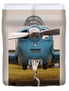 Front Of An Airplane Propeller Duvet Cover