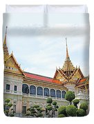 Front Of Reception Hall At Grand Palace Of Thailand In Bangkok Duvet Cover