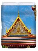 Front Of Royal Temple At Grand Palace Of Thailand In Bangkok Duvet Cover