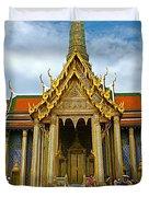 Front Of Thai-khmer Pagoda At Grand Palace Of Thailand In Bangkok Duvet Cover