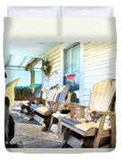 Front Porch On An Old Country House 2 Duvet Cover