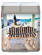 Front Porch On An Old Country House  3 Duvet Cover