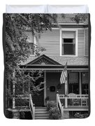 Front Porch Usa Black And White Duvet Cover