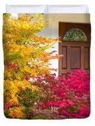 Front Yard Autumn Decor, Quincy California Duvet Cover