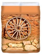 Frontier Wagon Wheel Duvet Cover