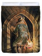 Frontispiece To Jerusalem Duvet Cover by William Blake