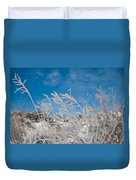 Frost Covered Grasses Against The Sky Duvet Cover
