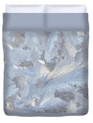 Frost Crystal On Window Duvet Cover