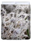 Frost In The Field Duvet Cover