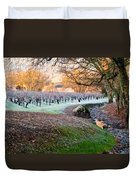 Frost In The Valley Duvet Cover by Bill Gallagher