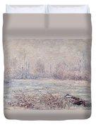Frost Near Vetheuil Duvet Cover by Claude Monet