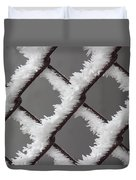 Frost On The Fence Duvet Cover