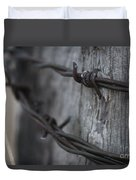 Frost On The Wire Duvet Cover