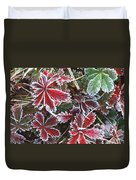 Frost On Wild Strawberry Duvet Cover