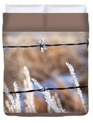 Frosted Fence Line Duvet Cover