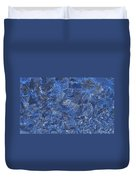 Frosted Frozen Flakes Duvet Cover