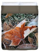 Frosted Leafs Duvet Cover