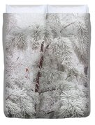 Frosted Pines Duvet Cover