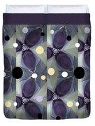 Frosted Purple Flower Duvet Cover