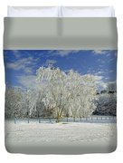 Frosted Trees - Newton Road Park Duvet Cover