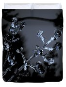 Frosty Buds Duvet Cover