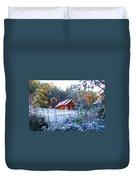 Frosty Cabin Duvet Cover