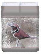 Frosty Cardinal Duvet Cover