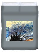 Frosty Fall Tree Duvet Cover