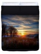 Frosty Grasses Duvet Cover