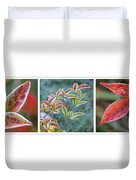Frosty Leaves Duvet Cover