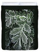 Frosty Leaves Macro Duvet Cover