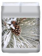 Frosty Norway Pine Duvet Cover