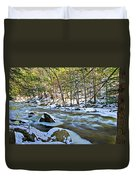 Frosty River Duvet Cover